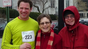 My brother, Bill, with my parents after the race.